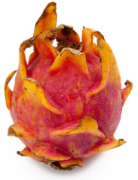 pink dragonfruit with golden tips
